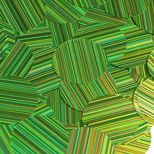 30mm Sequins Lime Green City Lights Metallic Reflective