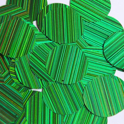 30mm Sequins Green City Lights Metallic Reflective