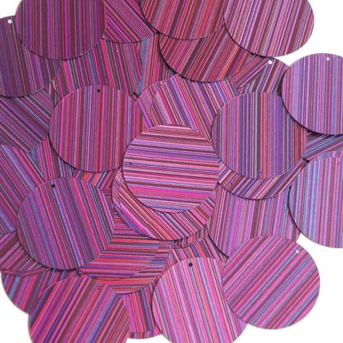 30mm Sequins Purple City Lights Metallic Reflective