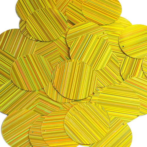 30mm Sequins Yellow City Lights Metallic Reflective