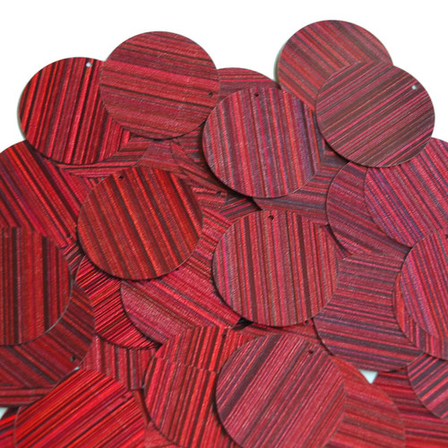 30mm Sequins Red Wine Burgundy City Lights Metallic Reflective