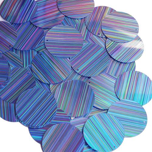 30mm Sequins Light Blue City Lights Metallic Reflective