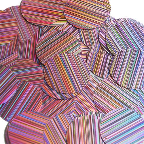 30mm Sequins Pink City Lights Metallic Reflective