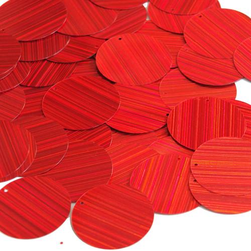 30mm Sequins Red City Lights Metallic Reflective