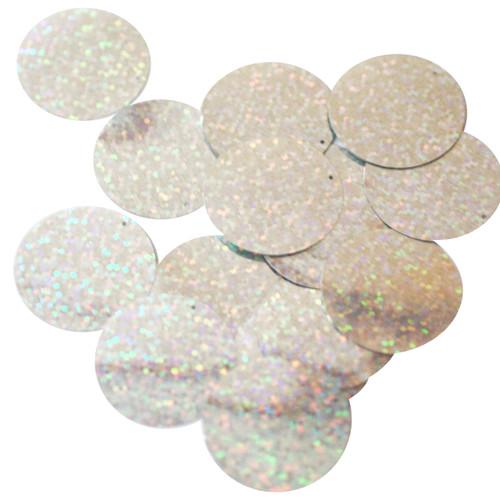 30mm Sequins Silver Hologram Hologram Glitter Sparkle Metallic