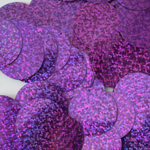 30mm Sequins Blue Violet Purple Hologram Glitter Sparkle Metallic