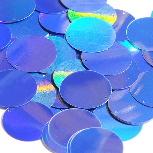 30mm Sequins Blue Lazersheen Reflective Metallic