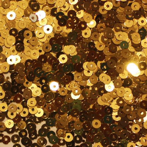 3mm Sequins Gold Metallic