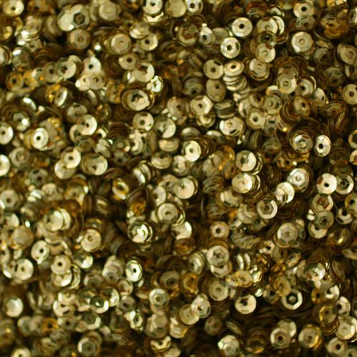 4mm Cup Sequins Gold Metallic