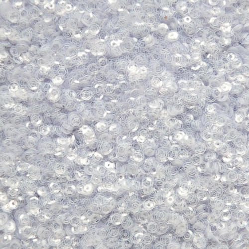 4mm Cup Sequins Clear Crystal Transparent See-Thru