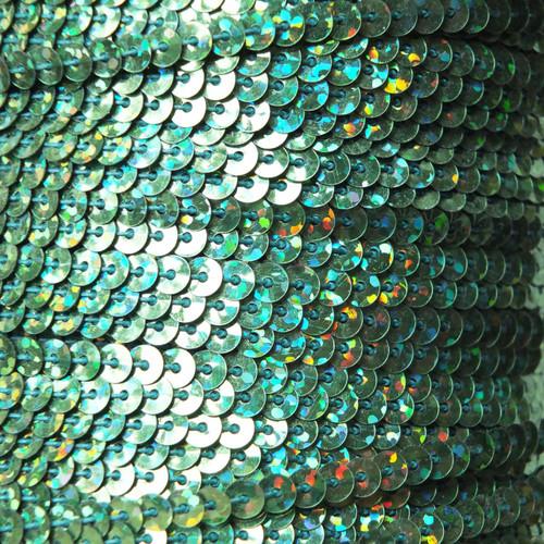 Sequin Trim 4mm Green Hologram Glitter Sparkle Metallic