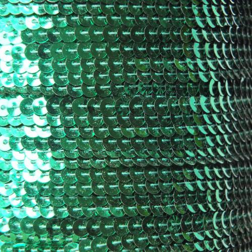 Sequin Trim 4mm Green Metallic