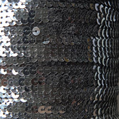 Sequin Trim 4mm Hematite Shiny Gray Metallic