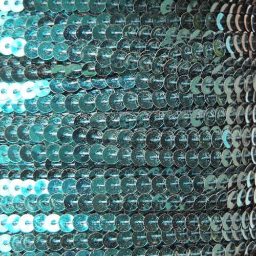 Sequin Trim 4mm Teal Peacock Metallic