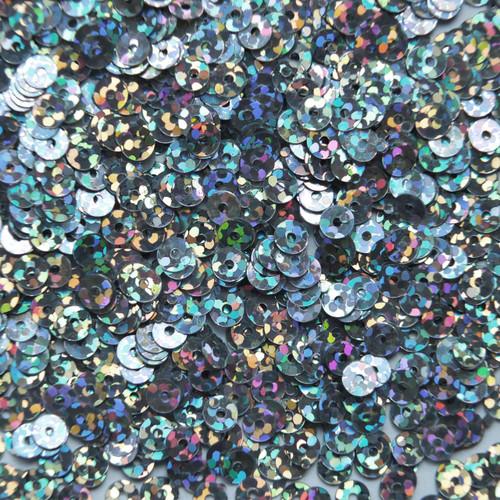 4mm Sequins Silver Hologram Glitter Sparkle Metallic