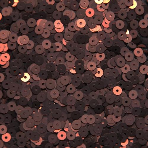4mm Sequins Bronze Brown Matte Silk Frost