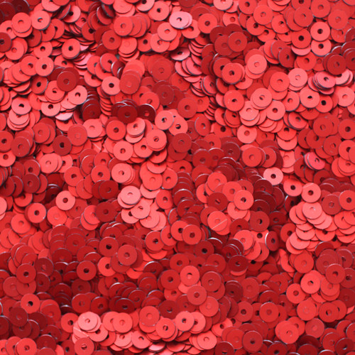 4mm Sequins Red Matte Silk Frost