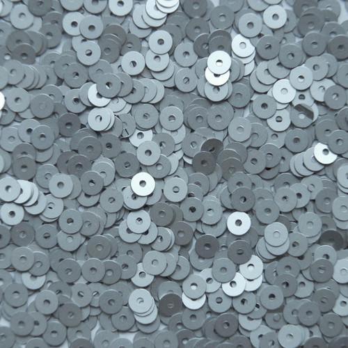 4mm Sequins Silver Matte Silk Frost