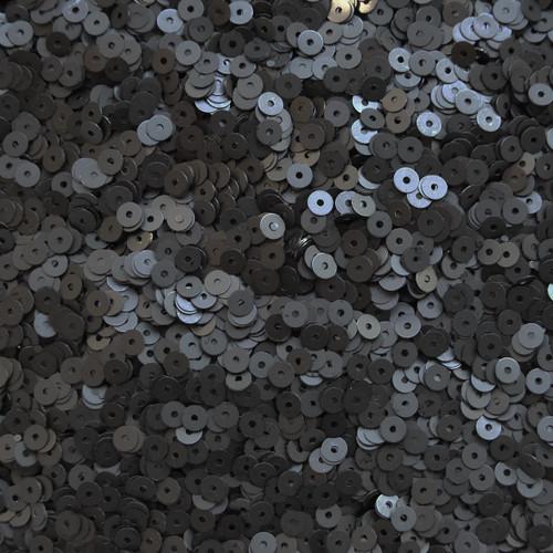 4mm Sequins Black Matte Silk Frost