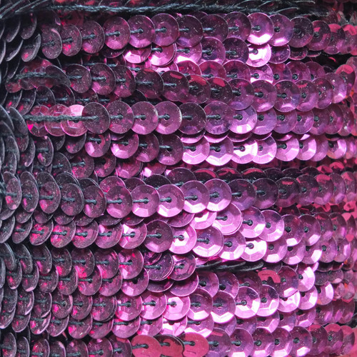 Sequin Trim 5mm Cup Red Wine Burgundy Metallic