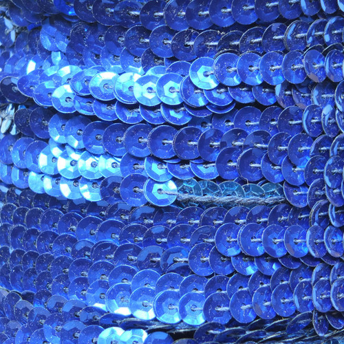 Sequin Trim 5mm Cup Royal Blue Metallic