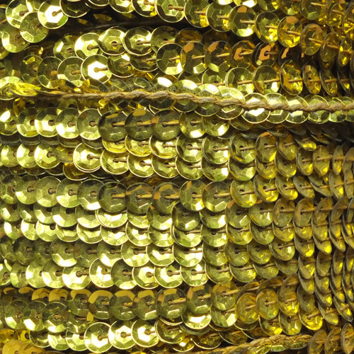 Sequin Trim 5mm Cup Yellow Metallic