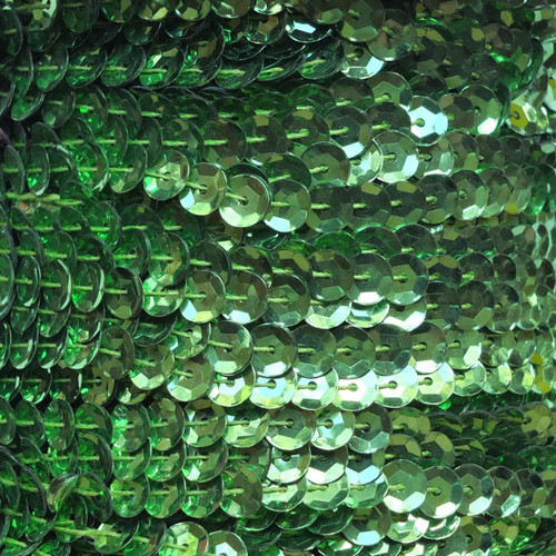 Sequin Trim 5mm Cup Lime Green Metallic
