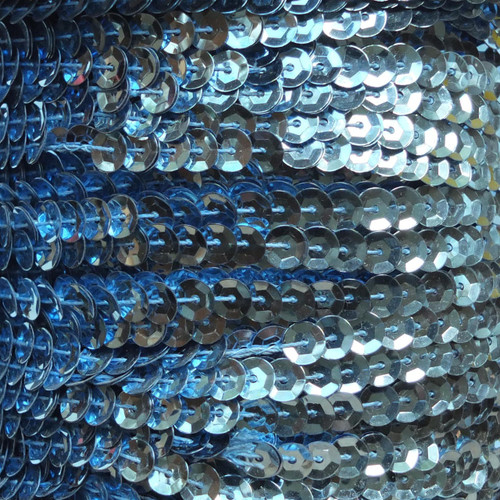Sequin Trim 5mm Cup Light Blue Metallic