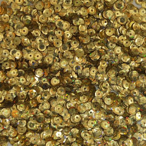 5mm Cup Sequins Gold Hologram Glitter Sparkle Metallic