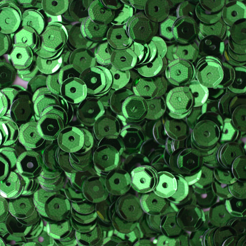5mm Cup Sequins Green Metallic