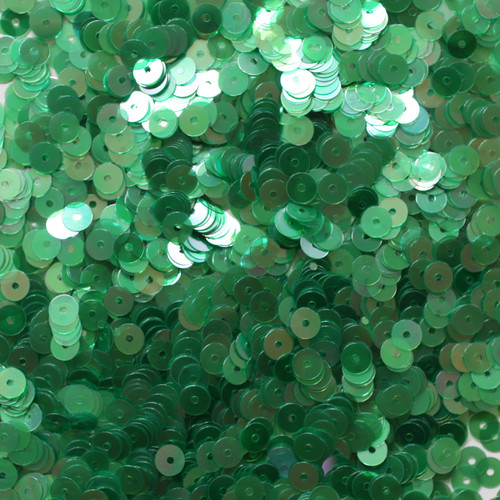 5mm Sequins Soft Emerald Green Crystal Rainbow Iris Iridescent