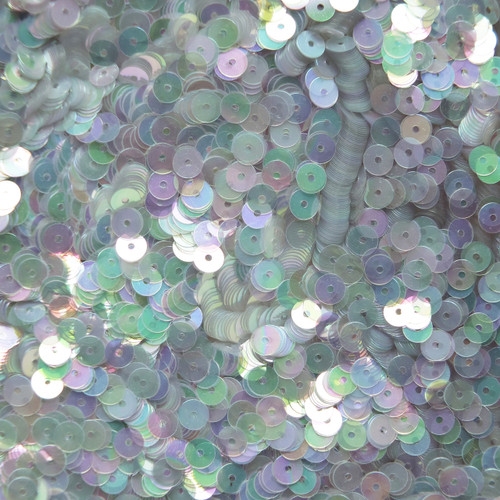 5mm Sequins Light Blue Crystal Rainbow Iris Iridescent