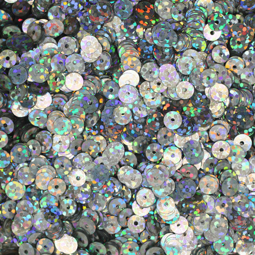 5mm Sequins Silver Hologram Glitter Sparkle Metallic