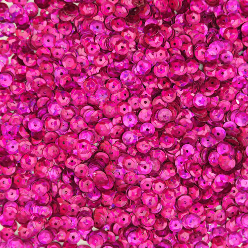 6mm Cup Sequins Fuchsia Pink Prism Metallic