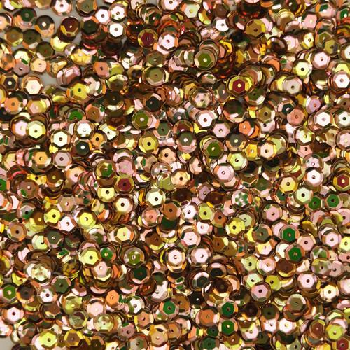 6mm Cup Sequins Gold Rainbow Iris Metallic