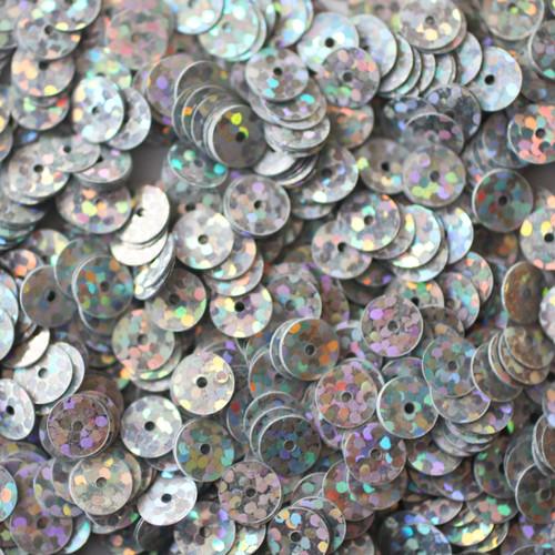 6mm Sequins Silver Hologram Glitter Sparkle Metallic