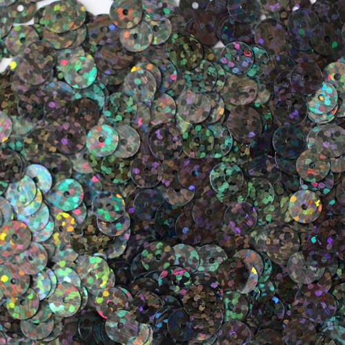 6mm Sequins Galactic Black Night Hologram Glitter Sparkle Metallic