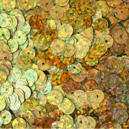 6mm Sequins Gold Hologram Glitter Sparkle Metallic