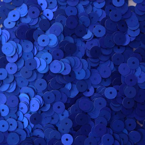 6mm Sequins Royal Blue Matte Silk Frost