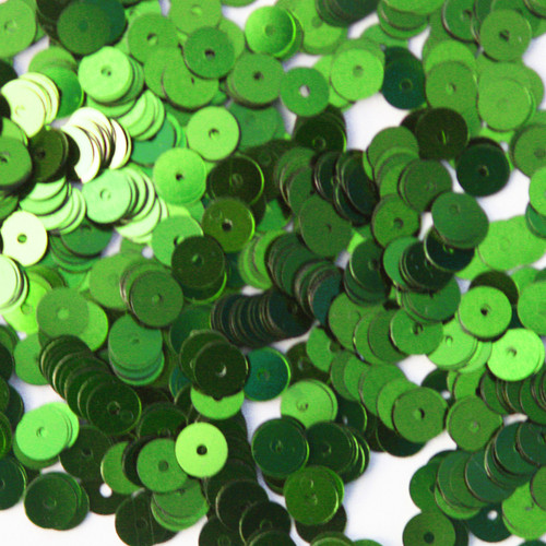 6mm Sequins Lime Green Metallic