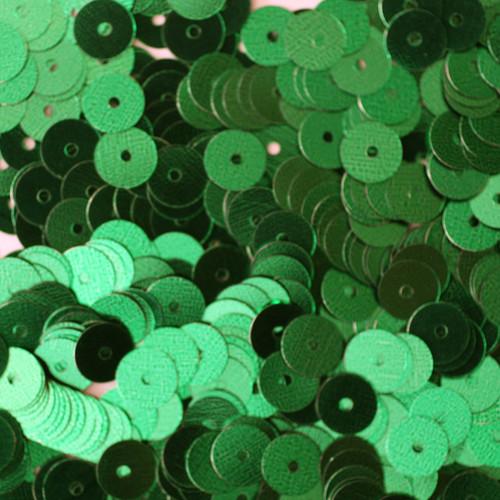 6mm Sequins Green Metallic