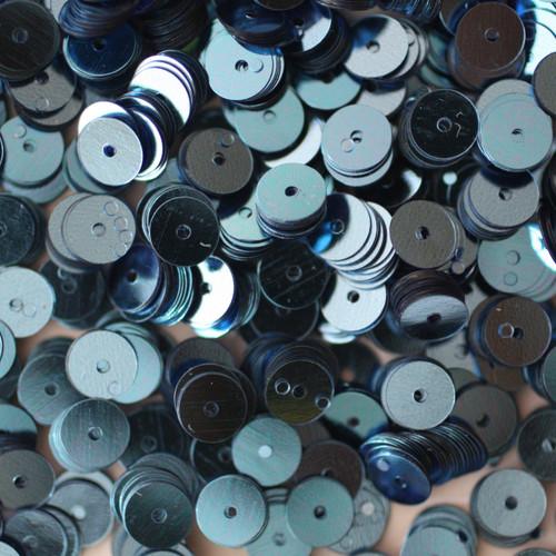 6mm Sequins Light Blue Metallic
