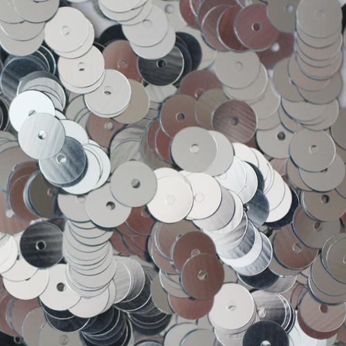 6mm Sequins Silver Metallic