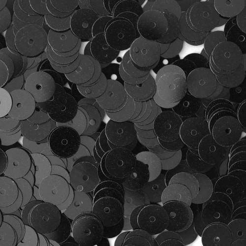 6mm Sequins Black Opaque