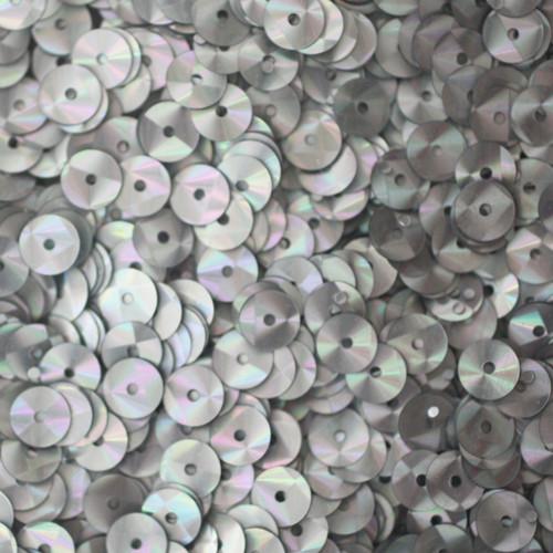 6mm Sequins Silver Prism Metallic