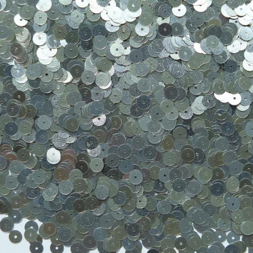 6mm Sequins Silver Semi Matte