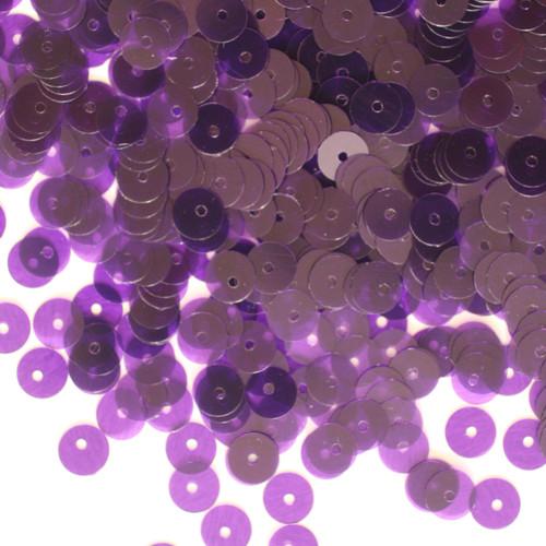 6mm Sequins Violet Purple Transparent See-Thru