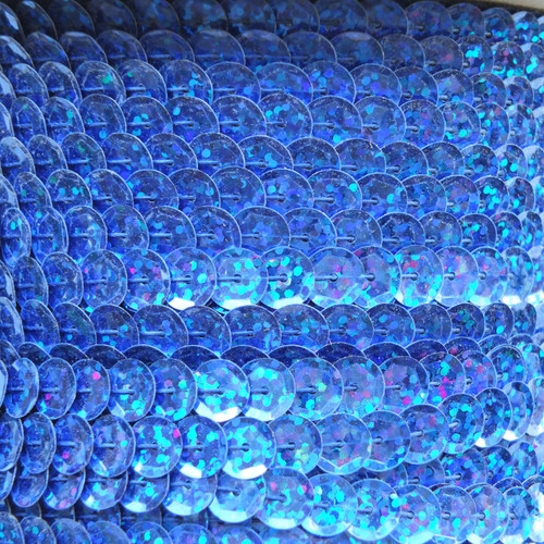 Sequin Trim 8mm Cup Royal Blue Hologram Glitter Sparkle Metallic