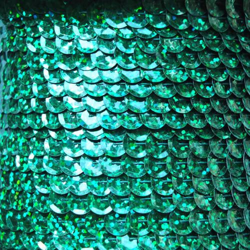 Sequin Trim 8mm Cup Green Hologram Glitter Sparkle Metallic