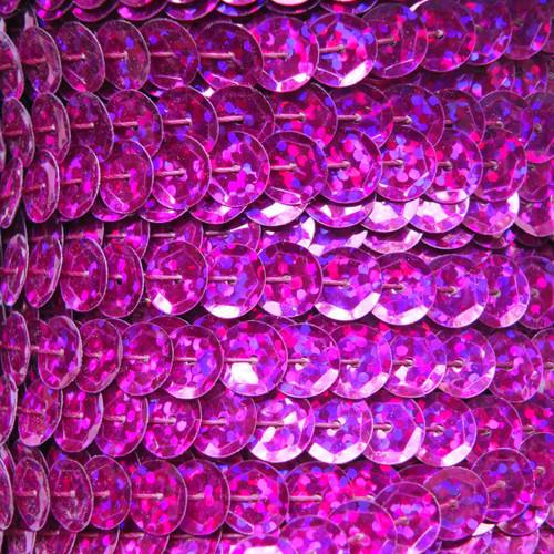 Sequin Trim 8mm Cup Fuchsia Pink Hologram Glitter Sparkle Metallic